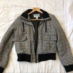 Women black and light gray Jacket Coat